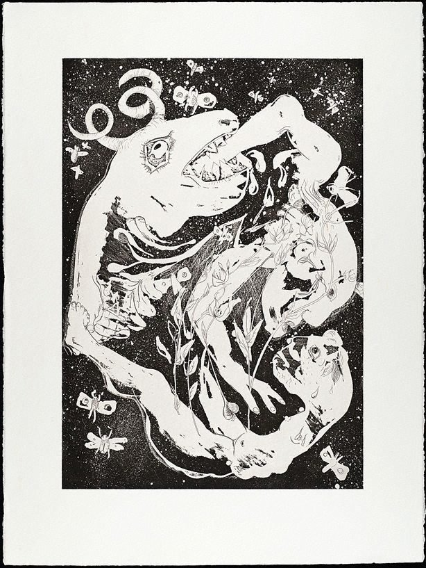 An image of (Illustration to Peter Porter's poem 'Introduction')