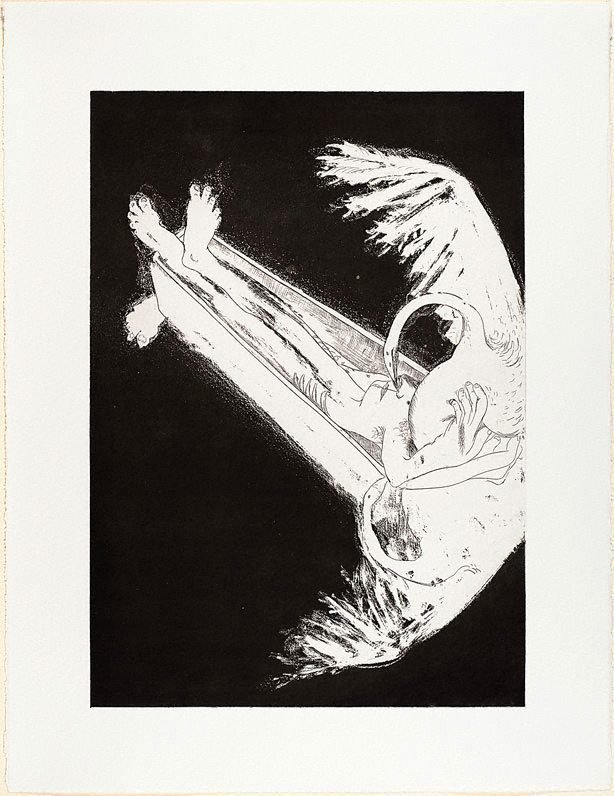 An image of (Illustration for Peter Porter's poem 'The burial of Narcissus')
