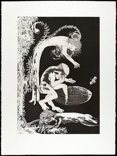 An image of (Illustration for Peter Porter's poem 'The making of a monster') by Arthur Boyd