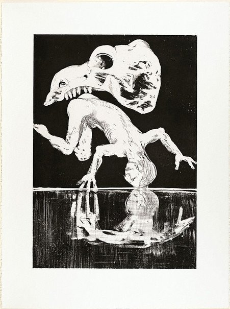 An image of (Illustration B for Peter Porter's poem 'The painter's banquet') by Arthur Boyd