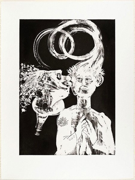 An image of (Illustration for Peter Porter's poem 'Narcissus among the anthropologists') by Arthur Boyd