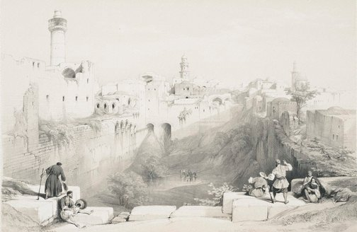 An image of Pool of Bethesda by Louis Haghe, after David Roberts