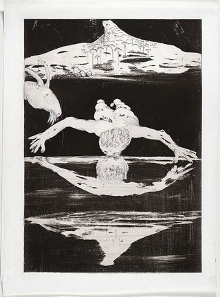 AGNSW collection Arthur Boyd (Illustration for Peter Porter's poem 'The Narcissus emblems') (1983-1984) 385.1993.15