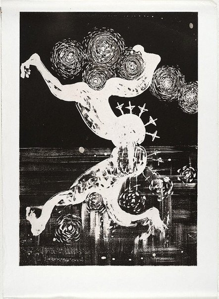 An image of (Illustration (b) for Peter Porter's poem 'At the palace') by Arthur Boyd