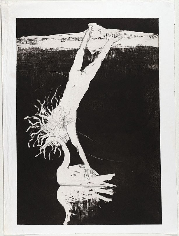 (Illustration for Peter Porter's poem 'Echo's farewell'), (1983-1984), Narcissus by Arthur Boyd