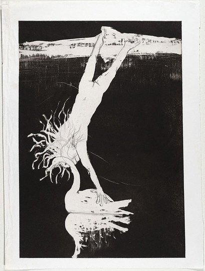 AGNSW collection Arthur Boyd (Illustration for Peter Porter's poem 'Echo's farewell') (1983-1984) 385.1993.23