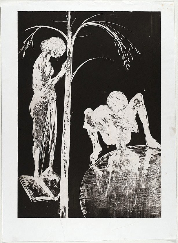 An image of (Illustration for Peter Porter's poem 'Postlude')