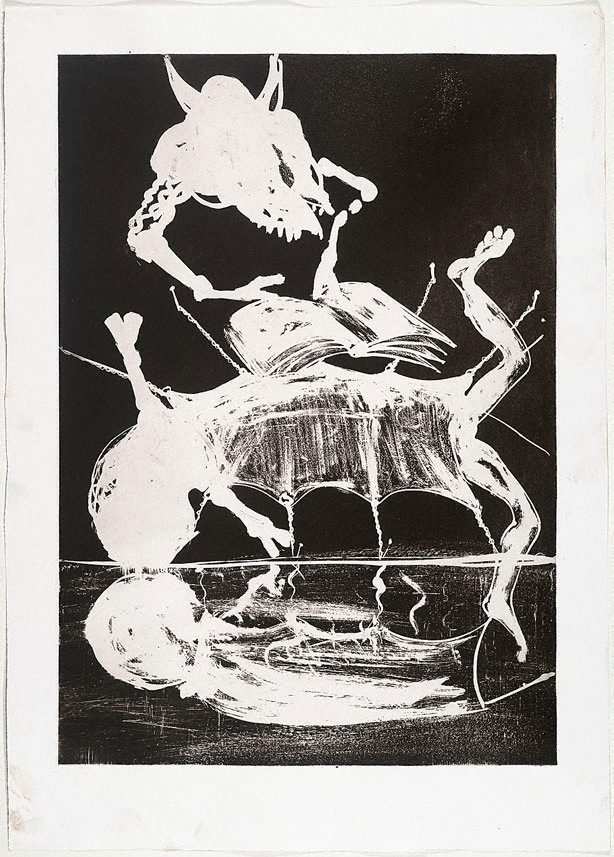An image of (Illustration for Peter Porter's poem 'Narcissus loses his love')
