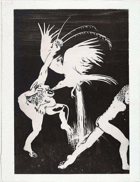 An image of (Illustration for Peter Porter's poem 'By the waterfall') by Arthur Boyd