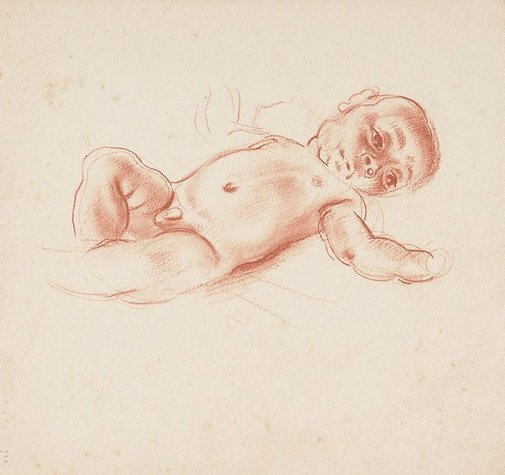 An image of Study of a New Guinean baby by Nora Heysen