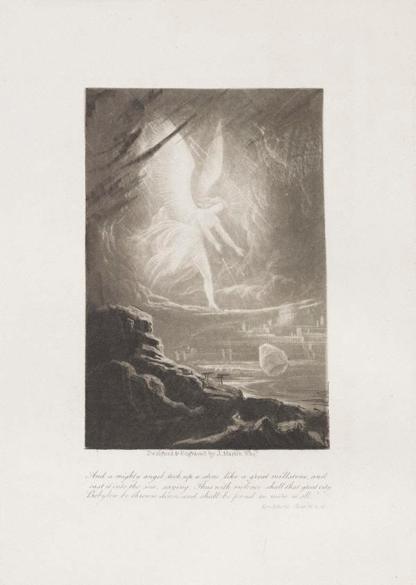 An image of The Angel prophesying the destruction of Babylon