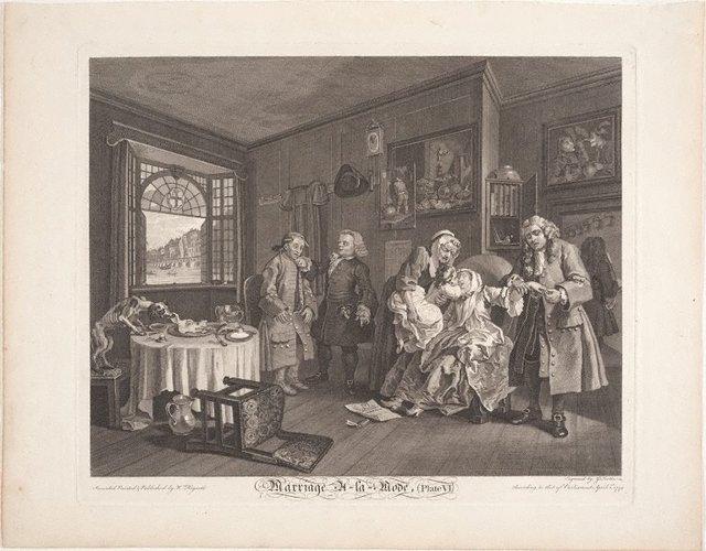 An image of Marriage-à-la-mode, plate 6