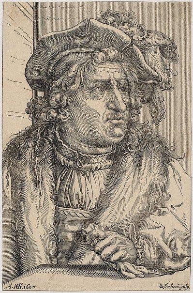 An image of Count Otto Heinrich of Schwarzenberg by Christoffel van Sichem, after Hendrick Goltzius