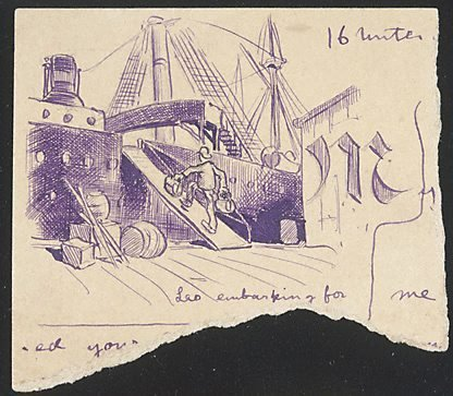 An image of Leo embarking for... by Lyonel Feininger