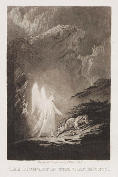 An image of The Prophet in the wilderness by John Martin