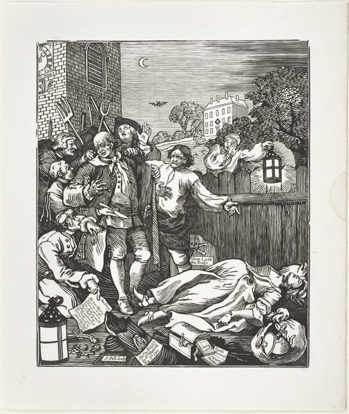 An image of Cruelty in perfection by John Bell, after William Hogarth