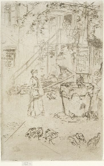 An image of Turkeys by James Abbott McNeill Whistler