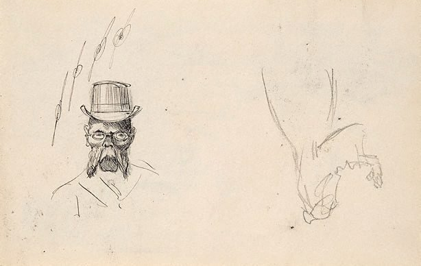 An image of Small sketchbook (caricatures)