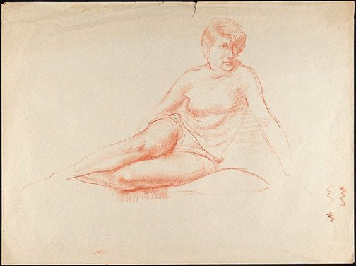 An image of Figure study, seated female by Nora Heysen