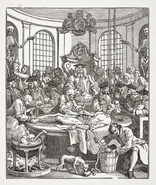 An image of The reward of cruelty by John Bell, after William Hogarth