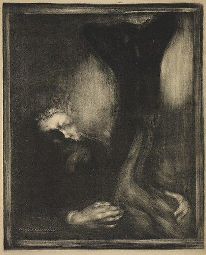 An image of Rodin sculptant by Eugène Carrière