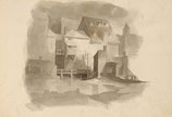 An image of Medium sketchbook (Caricatures and buildings) by Lyonel Feininger