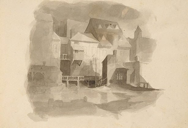 An image of Medium sketchbook (Caricatures and buildings)