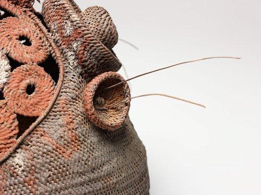 Alternate image of Baba or yau-baba (bell-shaped woven mask) by Abelam people