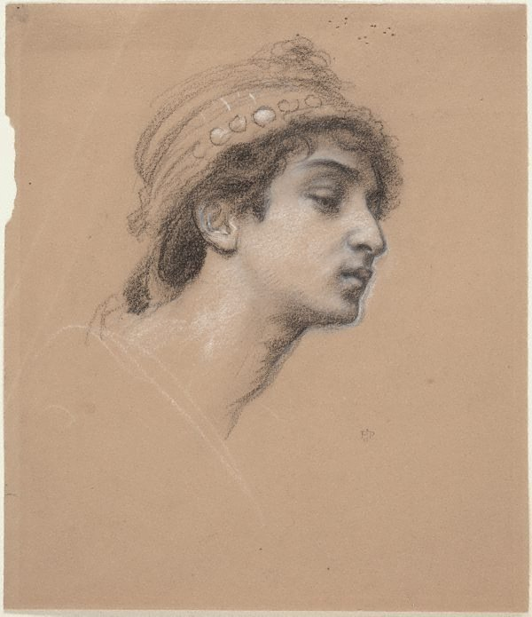 An image of Study for the head of the Queen of Sheba