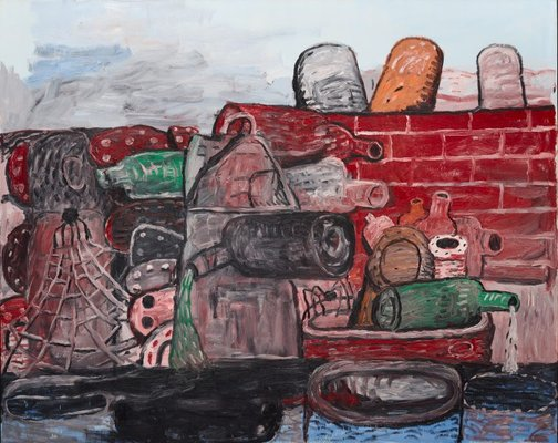 An image of East Tenth by Philip Guston