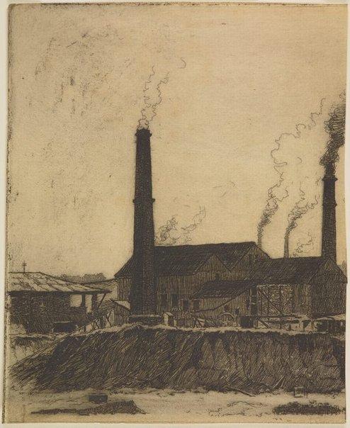 An image of Brickworks, St Leonards by Sydney Ure Smith