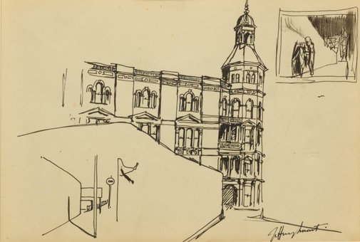 An image of The Trades Hall, Sydney by Jeffrey Smart