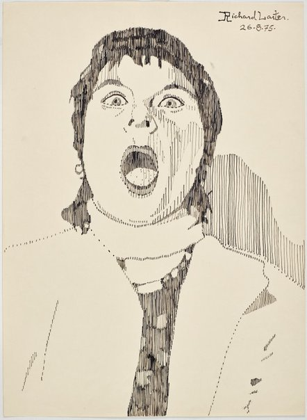 An image of Untitled (Pat mouth agape) by Richard Larter