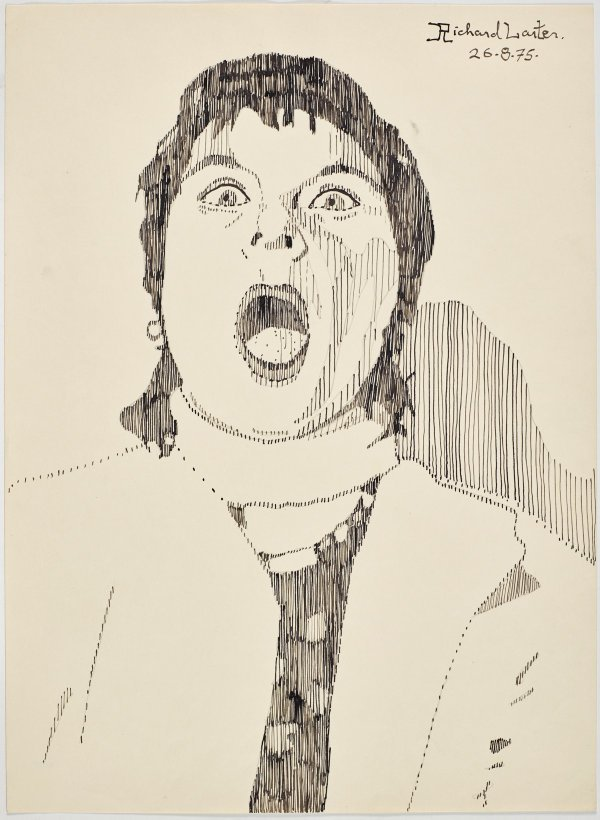 An image of Untitled (Pat mouth agape)