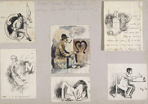 An image of Six caricatures by Lyonel Feininger
