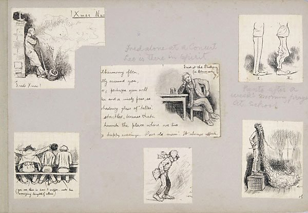 An image of Six caricatures