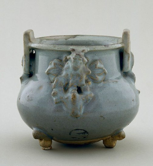 An image of Incense burner with two square lug handles by Jun ware