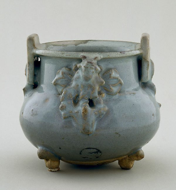An image of Incense burner with two square lug handles