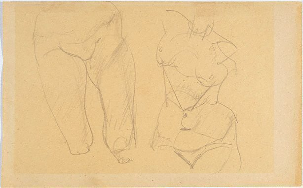 An image of Study of female thighs, torso