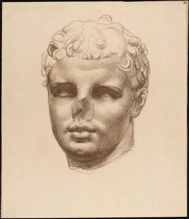 An image of Study of Roman bust