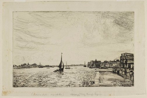 An image of Breezy day, King's Lynn by Henry Stuart Brown