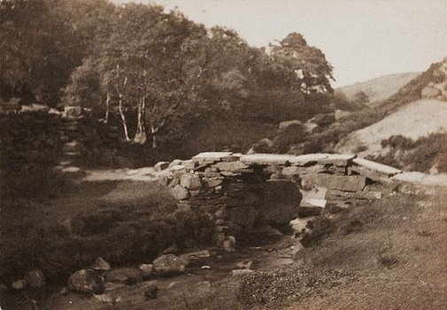 An image of The Bronte Bridge, Haworth Moor by William R Bland
