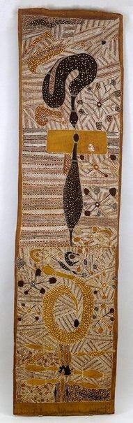 An image of Djaykung (File snakes) by Mithinari Gurruwiwi
