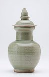 Alternate image of Covered jar with carved decoration by Longquan ware
