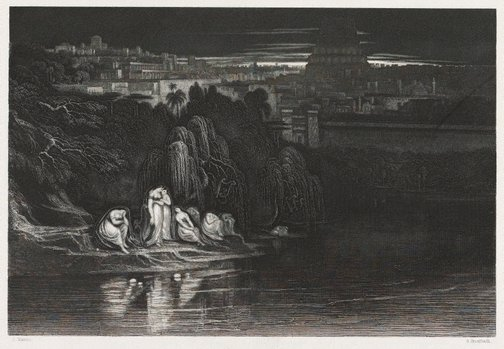 An image of By Babel's streams we sat and wept by George Greatbach, after John Martin