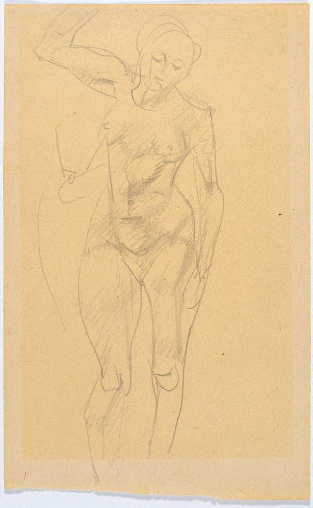 An image of Study of female nude