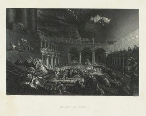 An image of Belshazzar's Feast by William Greatbach, after John Martin