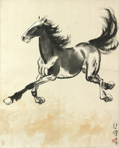 An image of Galloping horse by Xu Beihong