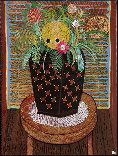 AGNSW collection Trevor Nickolls Homage to Margaret Preston (1988) 394.1993