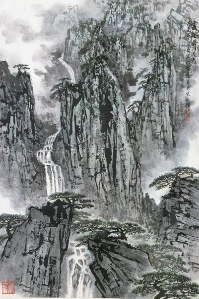 An image of Drifting clouds among ravines by Song Wenzhi